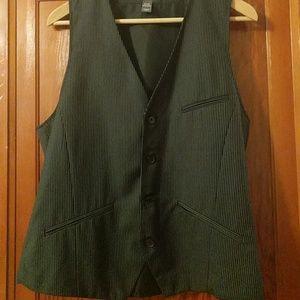 H&M white pinstripe dress vest 40R